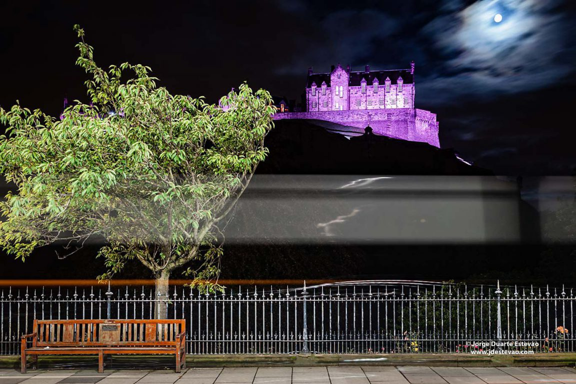 Edinburgh Castle is a historic fortress in the city of Edinburgh, Scotland. At Castle Rock, the monument is part of the Old and New Towns of Edinburgh's World Heritage Site
