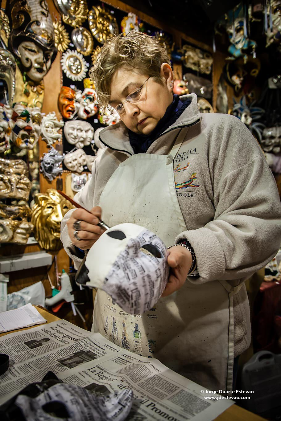 italian artisan mask Venice Carnival mask shop