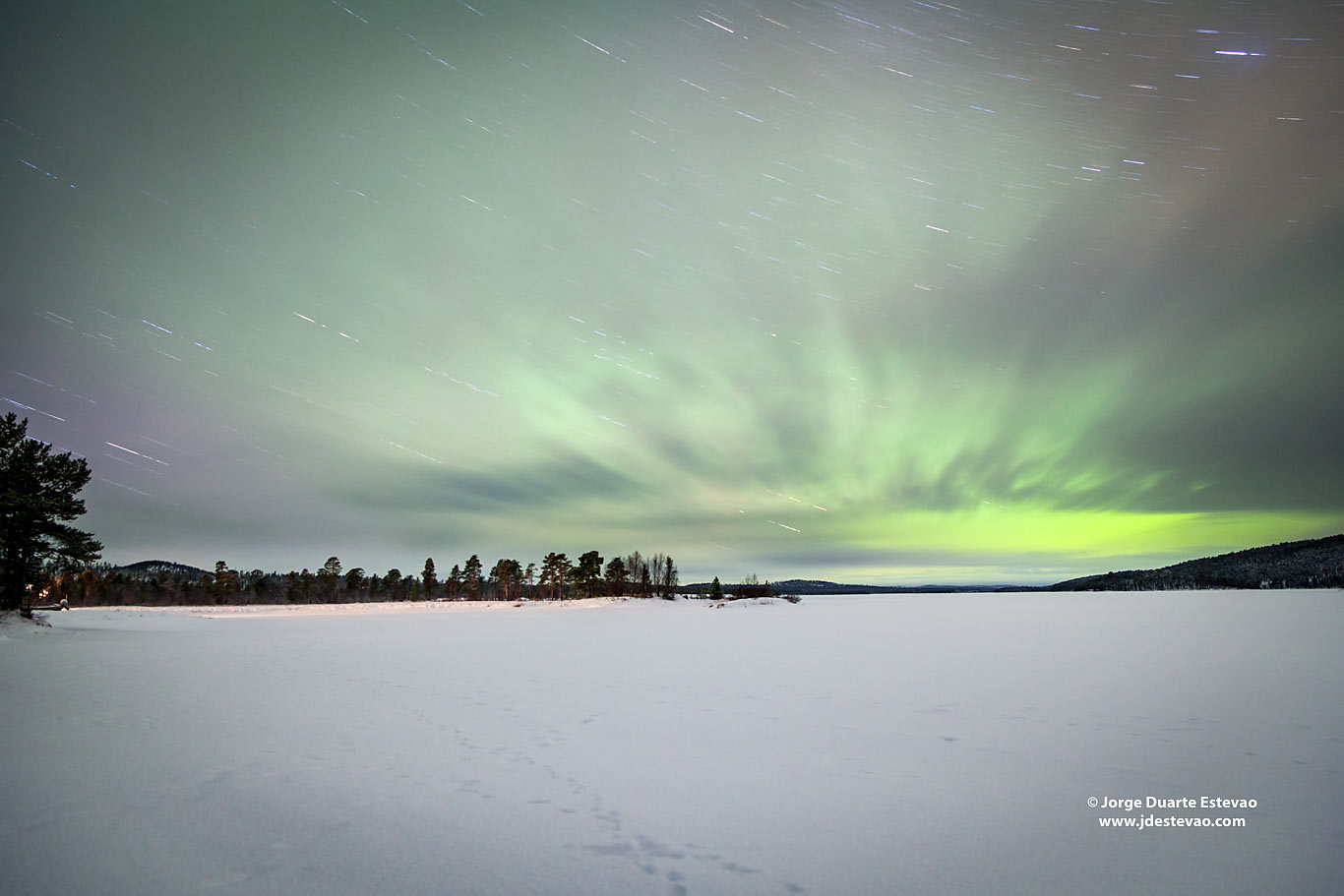 Aurora Borealis Inari Lapland Finland Northern Lights frozen lake