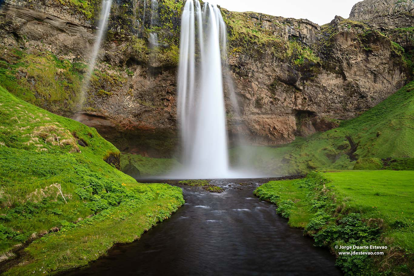 Seljalandsfoss waterfall Iceland Ring Road 60 metres Eyjafjallaj