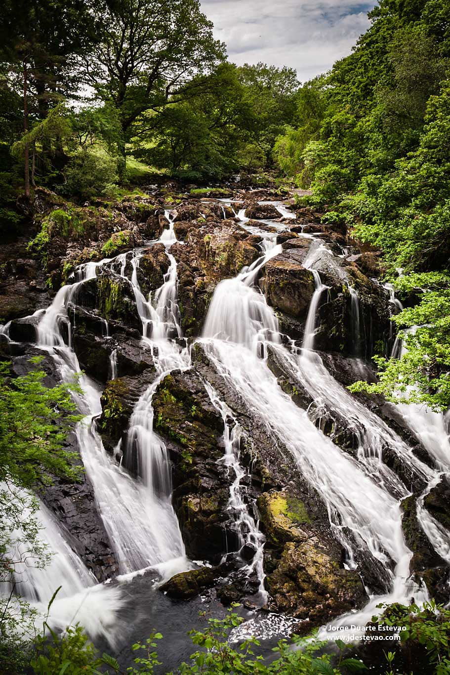 Swallow Falls waterfall Snowdonia National Park Wales United Kingdom