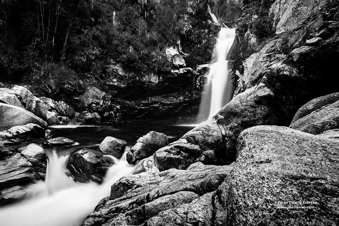 black white Wainui Falls largest falls Golden Bay Abel Tasman National park new zealand