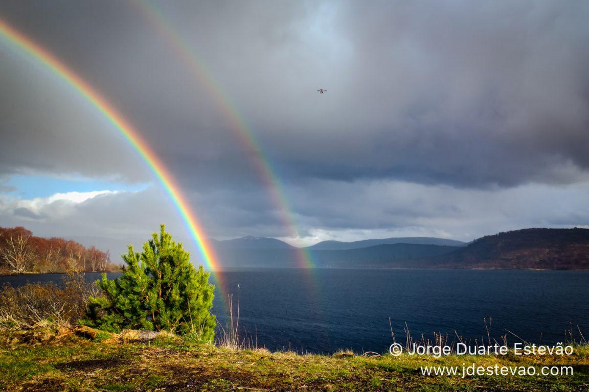 Rainbow in Loch Rannoch, Scotland  near Bridge of Ericht