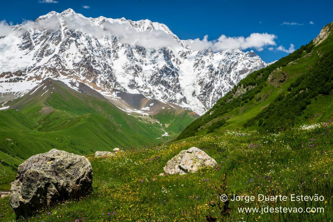 Mountains of the Caucasus in the Svaneti region, Georgia