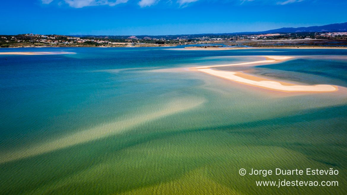 The landscape of the Ria de Alvor is sublime seen from the ground, but seen from the air it is completely irresistible