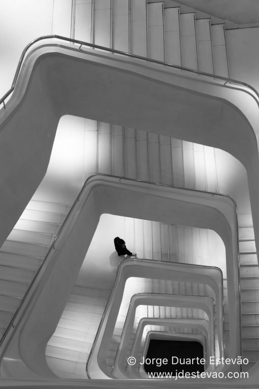 Stairway in Madrid, Spain