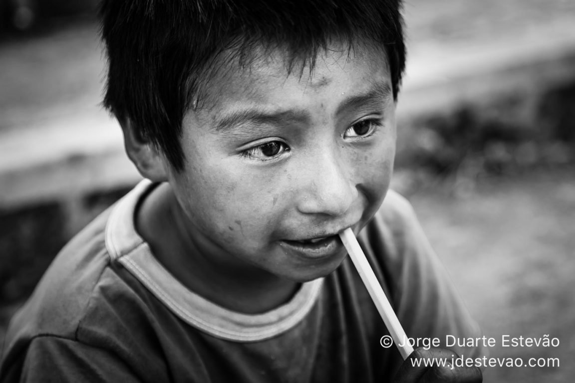 Portrait of a young kid in Mexico