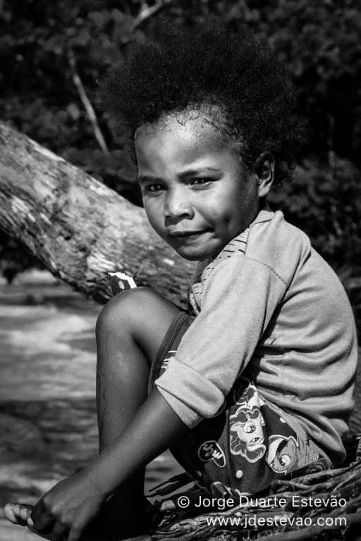 Portrait of a kid in Indonesia